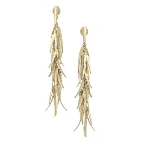 18K Gold Clad 4 Satin Signature Chili Post Earrings