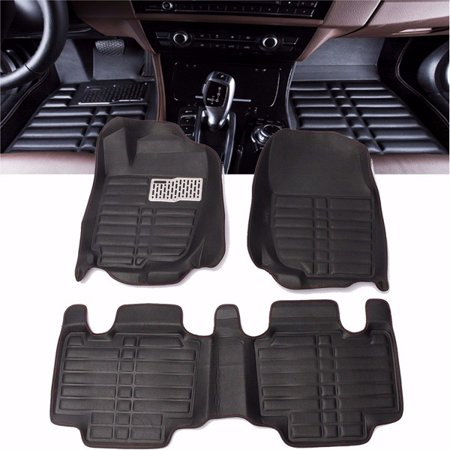Waterproof Black Car Floor Mats Front & Rear Liner Mat Protector For TOYOTA RAV4 (Best Waterproof Car Floor Mats)