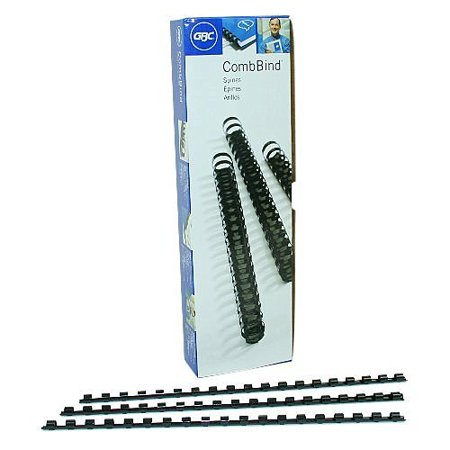 - GBC CombBind Binding Spines, .375 Inch Spine Diameter, 55 Sheet Capacity, Black, 100 Spines per Pack (4090302P)