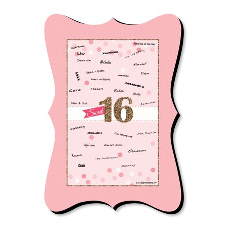 Sweet 16 - 16th Birthday - Unique Alternative Guest Book - 16th Birthday Party Signature Mat](Unique Sweet Sixteen Themes)