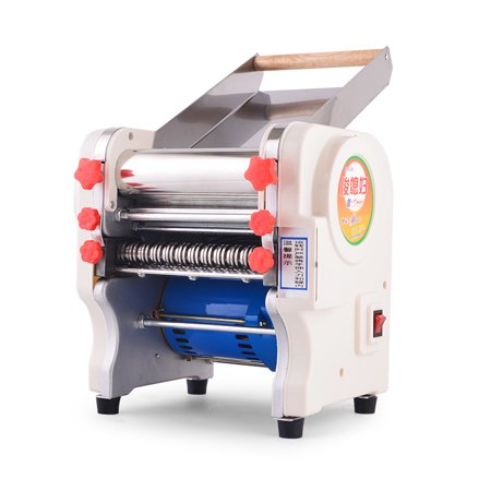 Width Machine (220V Electric Pasta Maker Stainless Steel Noodles Roller Machine for Home Restaurant Commercial - Width 180mm )