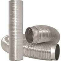 Dundas Jafine 0197830 Dundas Jafine MFX48 Semi-Rigid Duct, 4 in OD x 8 ft L, Aluminum