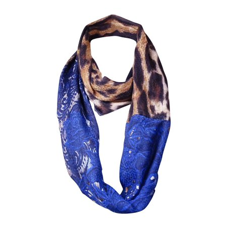 Echo Design Women's Lace & Animal Print Infinity Scarf (OS, Multi) ()