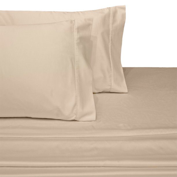 Luxury 100% Cotton 600 Thread Count Sheets Solid King Size Bed