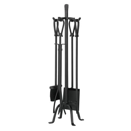 Fantastic Uniflame 5 Piece Iron Fireplace Tool Set Loop Handles Download Free Architecture Designs Grimeyleaguecom