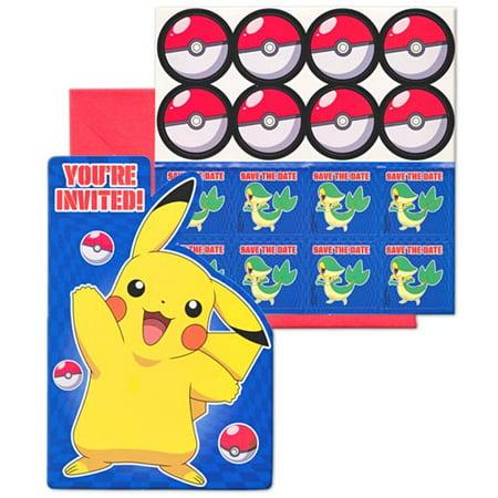 Pokemon Birthday Invitations W Envelopes 8ct