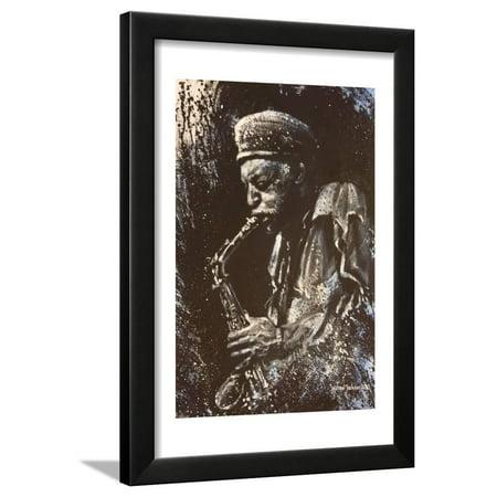 Man Playing Saxaphone Framed Print Wall Art By Michael