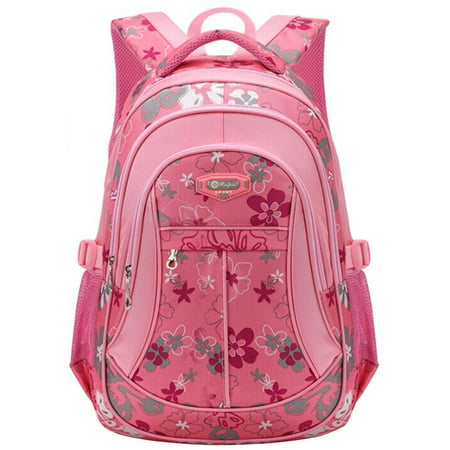 School Backpack for Girls Flowers Pattern Backpacks for School Cute Bookbag for Teenage Girls/Kids