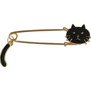 Cat.1 Top Link Pin (Black Cat with Tail Artwork PIN, 3D Rubber & Embossed Metal Lapel Pins - 1