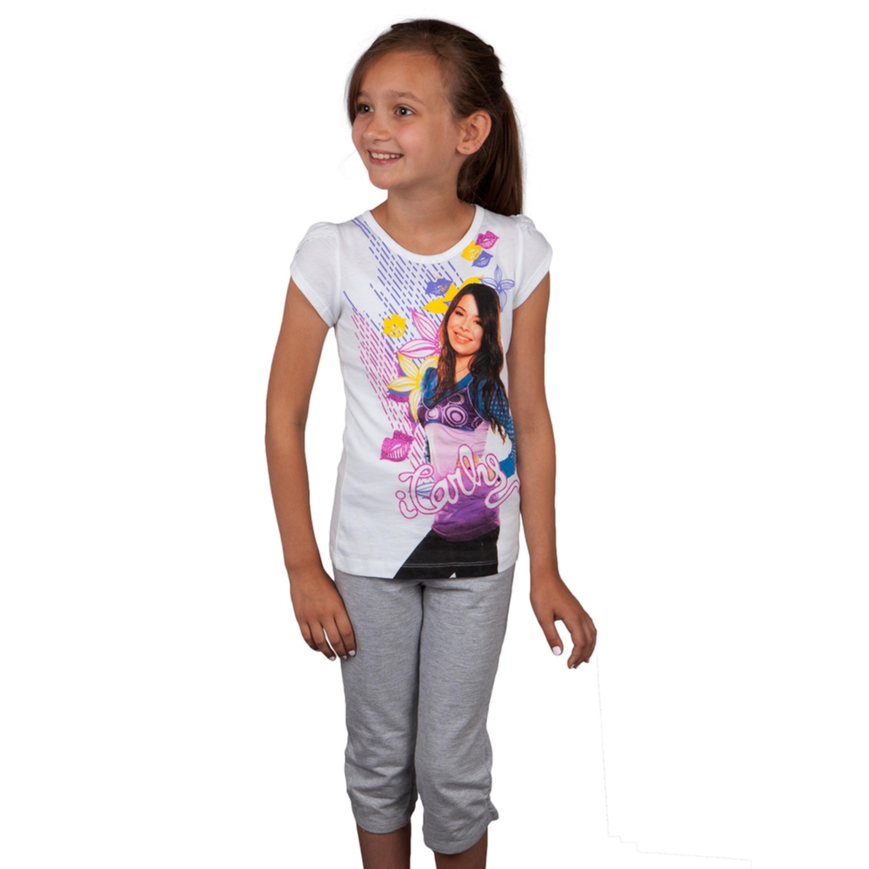 ICARLY - iCarly - Carly Kisses Girls Juvy Capri Set - Walmart.com