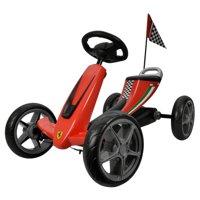 KidPlay Licensed Kids Ride On Ferrari Go Kart Soft EVA Wheels - Red