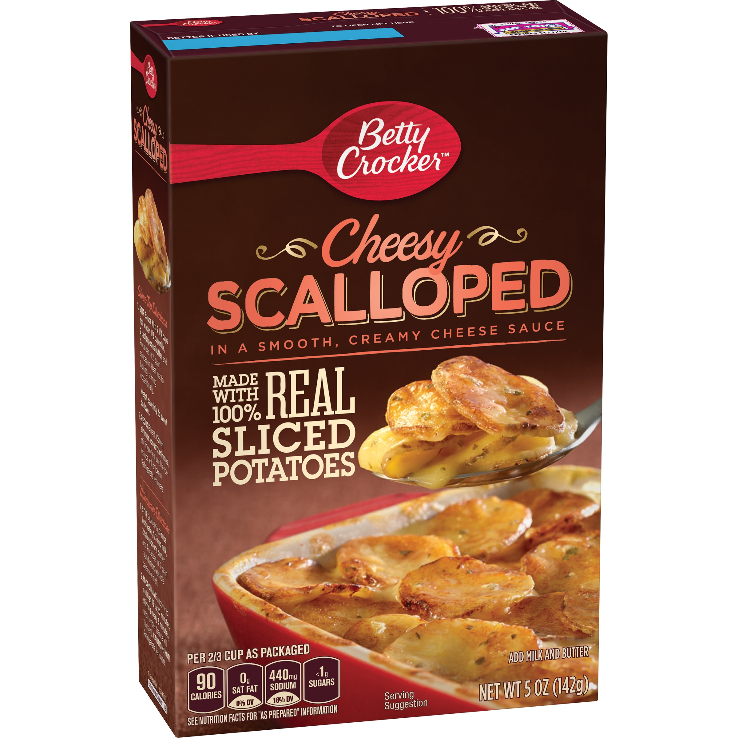 Betty Crocker Real Sliced Potatoes Cheesy Scalloped, 5.0 OZ by General Mills Sales, Inc.