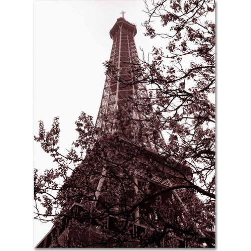 "Trademark Fine Art ""Eiffel With Tree"" Canvas Art by Kathy Yates"