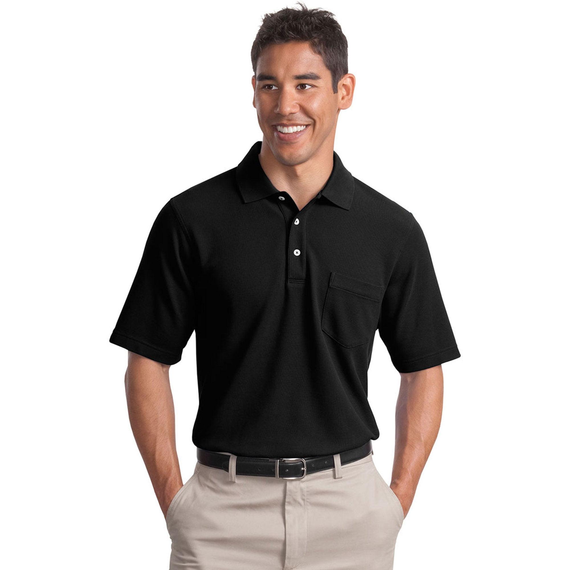 Port Authority Men's 3-Button Placket Pique Polo Shirt