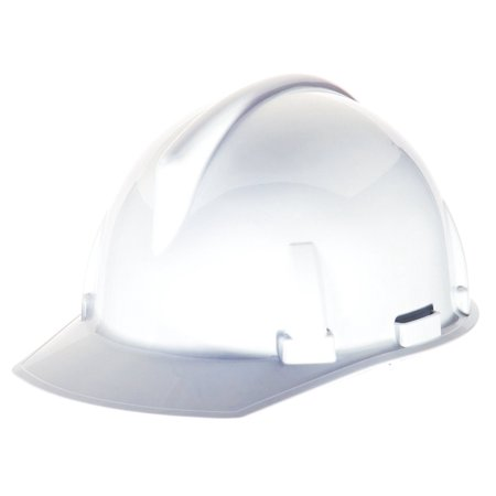 Safety 454728 Topgard Polycarbonate Protective Non-Slotted Cap with 1-Touch Suspension, Standard Size, White By MSA