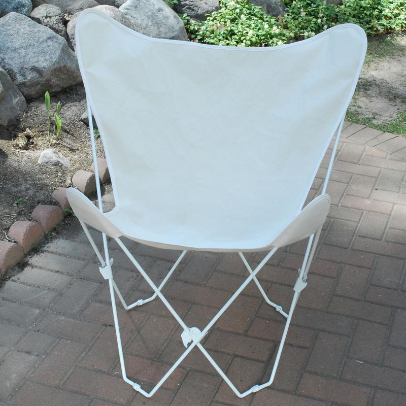 Butterfly Chair and Cover Combination w/White Frame