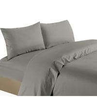 Life Style 1200 Thread Count 100% Egyptain Cotton 4-Piece Deep Pocket Stripe Sheet Set (Full, Grey)