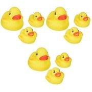 vital baby play n splash family - ducks - 3 packs of 3 count = 9 count