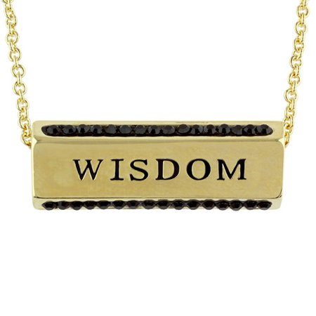 Truly Inspired Gold Plated 'Wisdom, Strength, Honor' Crystal Sentiment 18