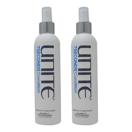 Unite 7 Seconds Condition Leave in Detangeler 8 oz(Pack of 2) Detangling Light Conditioning Mist