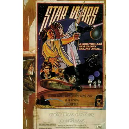 Star Wars Episode Iv A New Hope Movie Poster Style D Size 27 X 40 By Poster By Poster Stop Online Usa Walmart Com