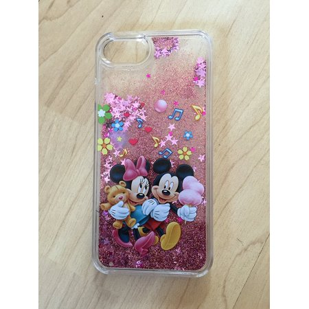 Mickey & Minnie Mouse Bling Sparkle Glitter Quicksand Case For iPhone 6/6s Plus 5.5
