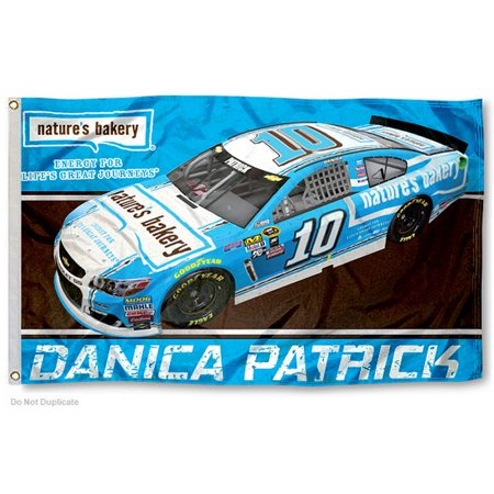 Danica Patrick Natures Bakery Car 10 Nascar Flag