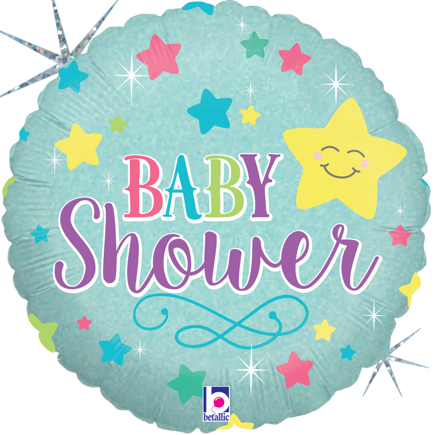 Baby Shower Star Mylar Balloon