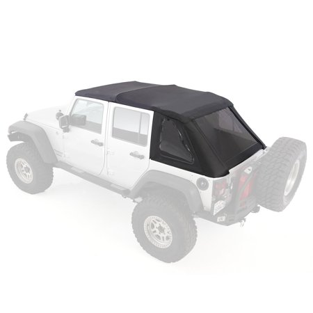 Smittybilt Bowless Combo Soft Top Kit w/ Tinted Windows for 07- 17 Jeep