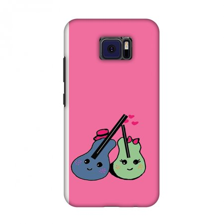 V Cast Music Kit (Asus ZenFone V V520KL Case - Music doodles- Bright pink, Hard Plastic Back Cover, Slim Profile Cute Printed Designer Snap on Case with Screen Cleaning)