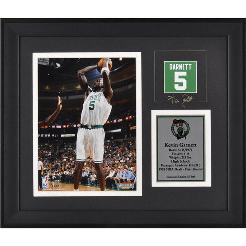 NBA - Kevin Garnett Boston Celtics Framed 6x8 Photograph with Facsimile Signature and Plate - Limited Edition of 500