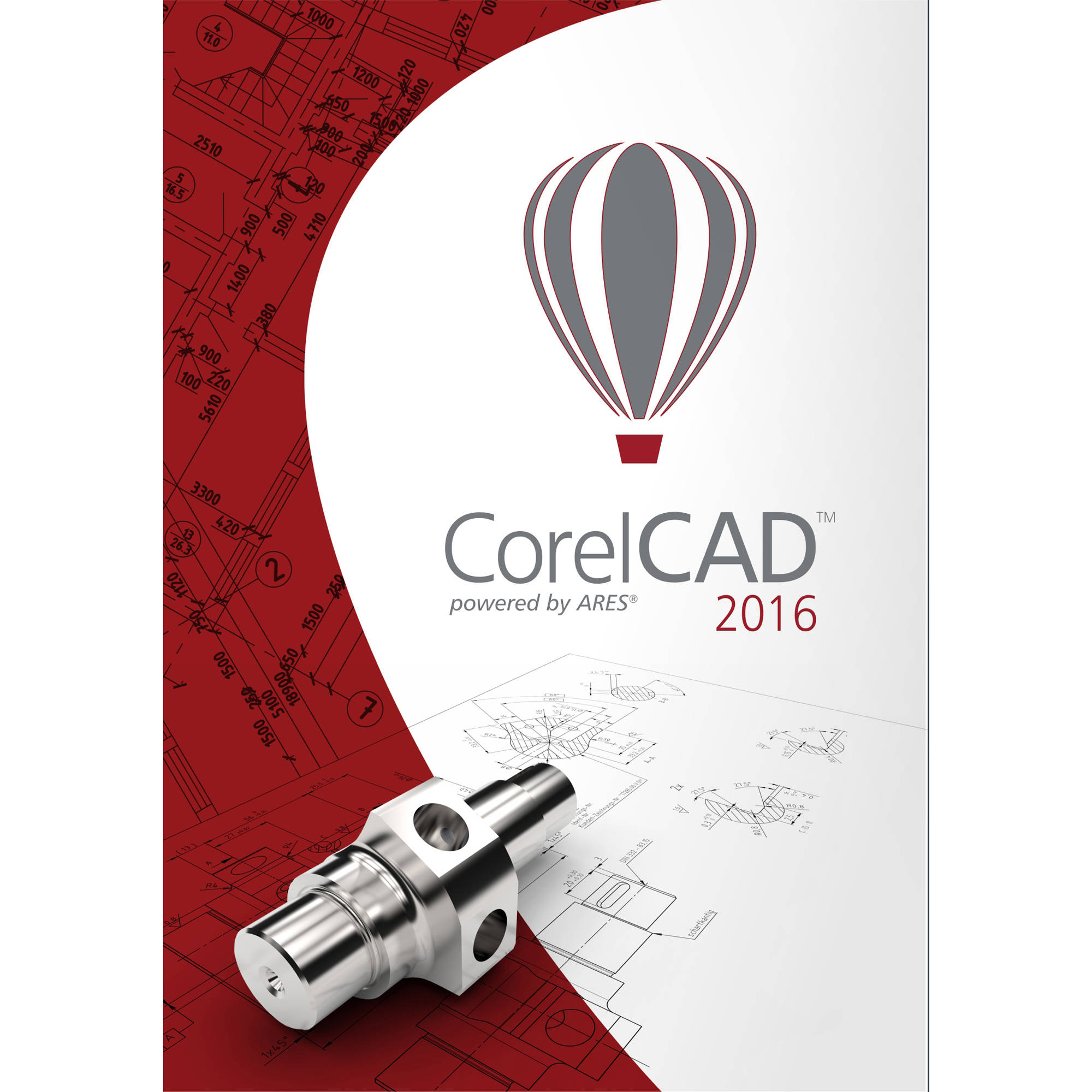Corel ESDCCAD2016MLA CorelCAD 2016 ML Education Edition (Email Delivery)
