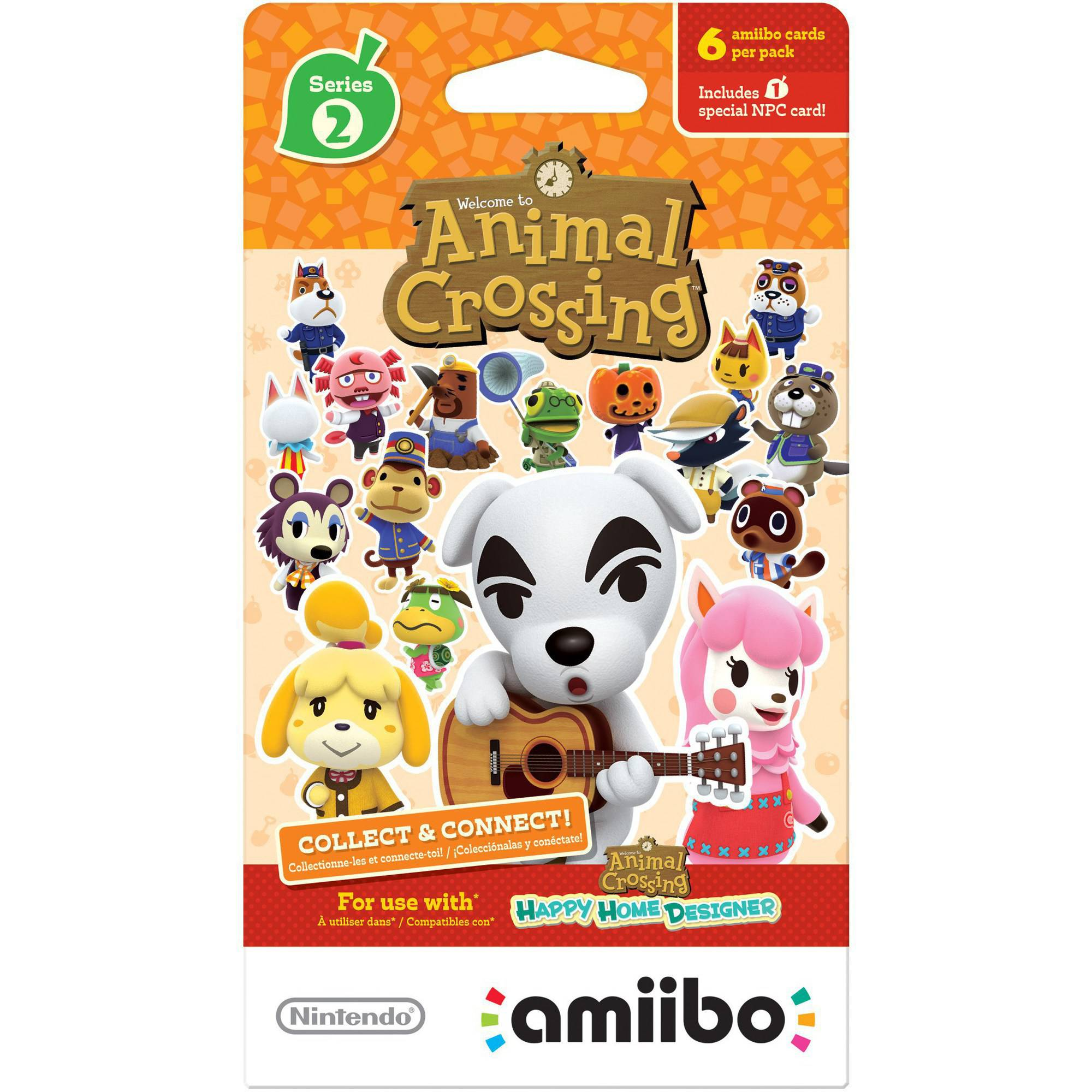 Animal Crossing amiibo Cards 6-Pack Series 2 (Universal)