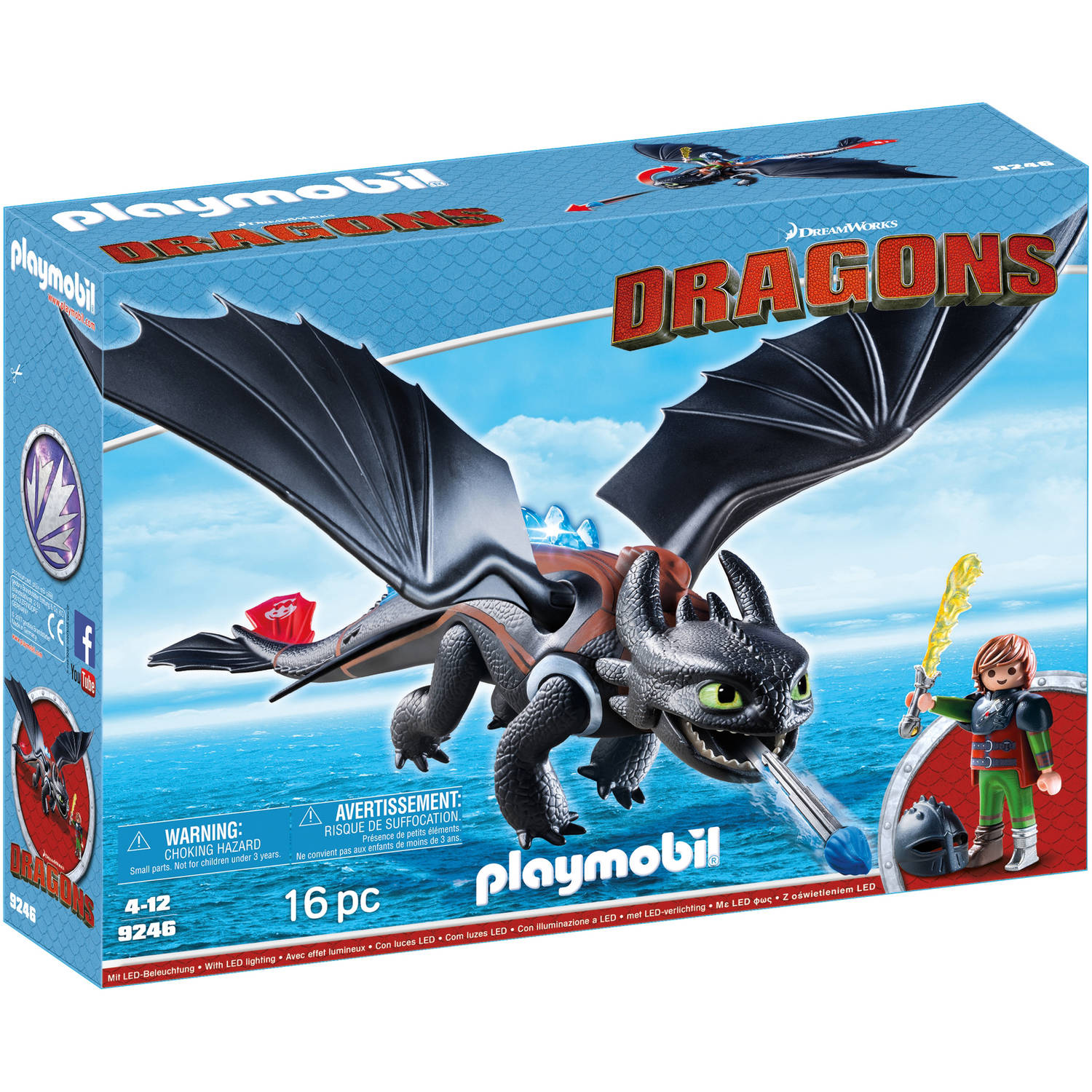 playmobil how to train your dragon hiccup toothless walmartcom