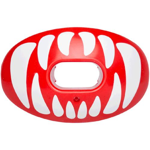Battle Sports Oxygen Mouthguard  Red with White Fangs