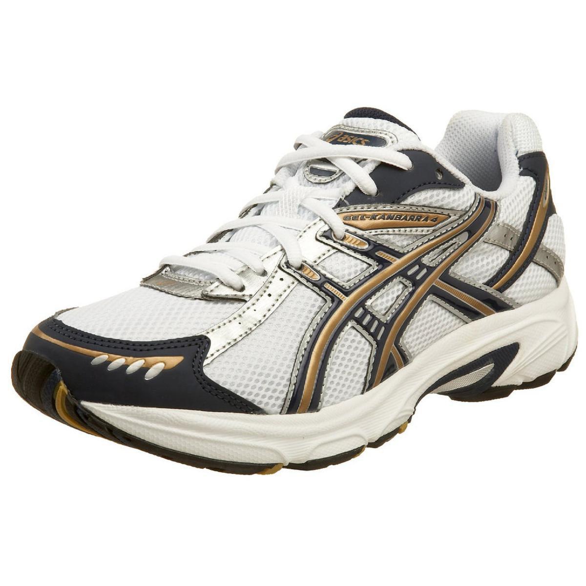 Asics Gel-Kanbarra 4 Men's White Navy Gold Running Sneakers 14M by ASICS