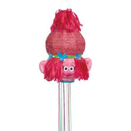 Poppy Trolls Pinata, Pull String, 18.5 x 14.5 in, 1ct for $<!---->