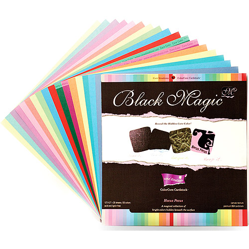 Core'dinations Black Magic Cardstock Asst 12X12 20/Pkg, Hocus Pocus