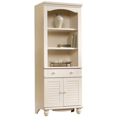 This button opens a dialog that displays additional images for this product  with the option to zoom in or out. - Sauder Harbor View Library With Doors, Multiple Finishes - Walmart.com