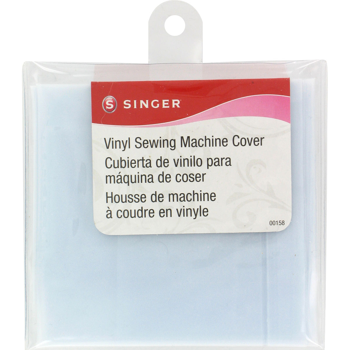 "Vinyl Sewing Machine Cover-15.5""X9.125""X6"" Frosted"