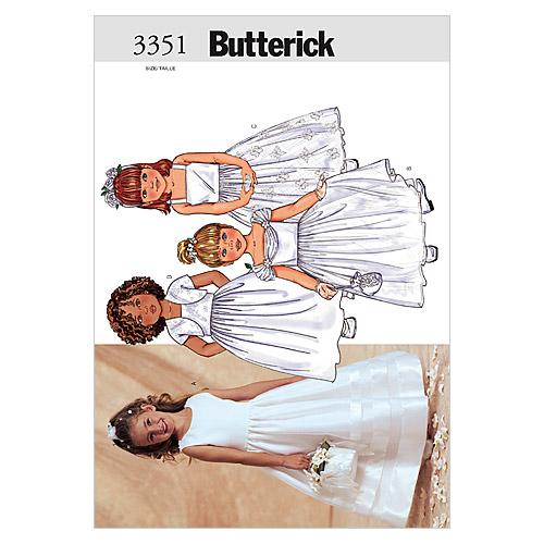 Butterick Pattern Children's and Girls' Jacket and Dress, (2, 3, 4, 5)