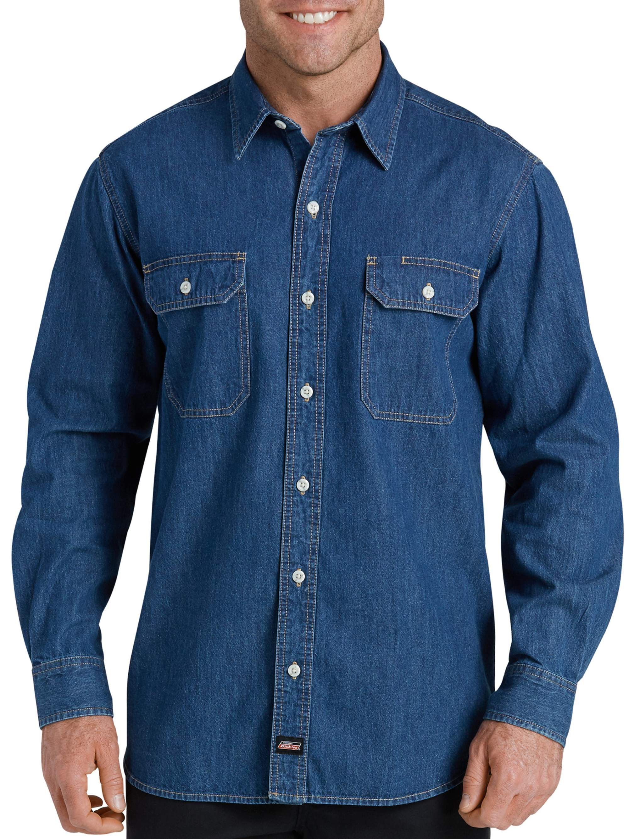 Big Men's Heavy Weight Long Sleeve Denim Shirt