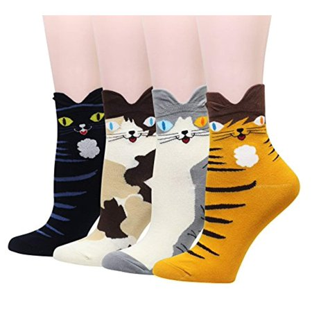 Women Girl Cartoon Animal Design Lovely Novelty Cute Casual Cotton Socks Gift Idea - Animals With Womens