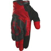 SixSixOne Evo II Full Finger Glove: Red MD