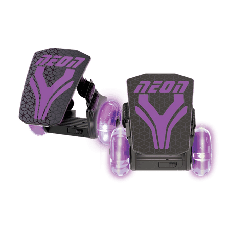 Neon Vybe Heel Skates Street Roller Purple for Kids, with LED light-up wheels