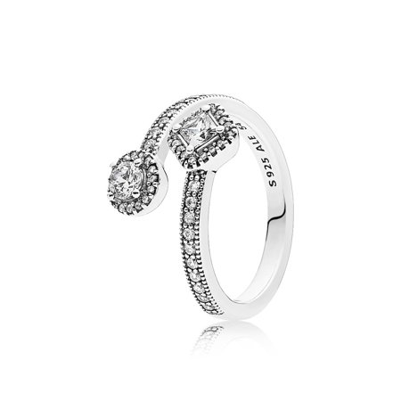 Abstract Elegance, Clear CZ Ring sz 48 191031CZ-48