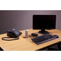 Desktex Anti-slip Polycarbonate Desk Pad, Crystal Clear