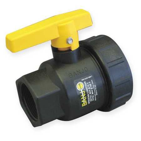 BANJO Poly Ball Valve,Union,FNPT,1 in SUV100FP