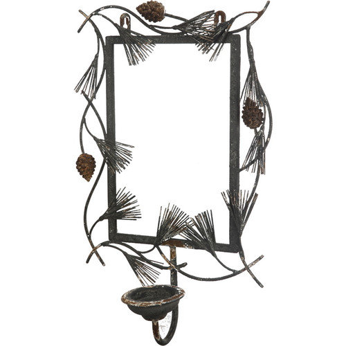 A&B Home Group, Inc French Chic Garden Metal/Glass Candle Sconce