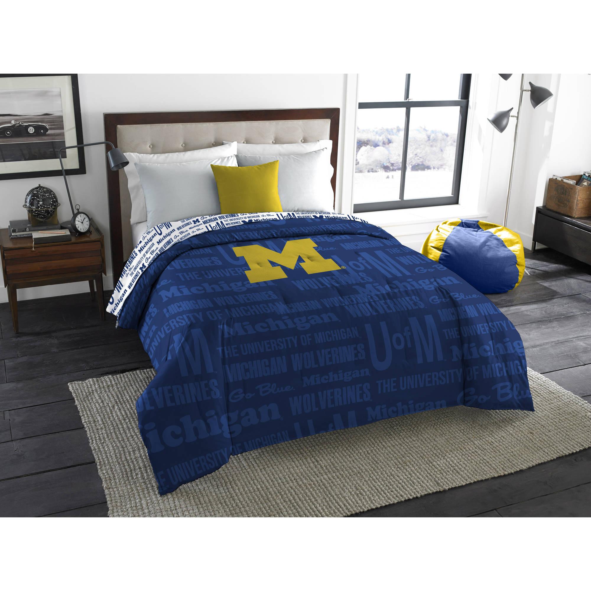 "NCAA Michigan Wolverines ""Anthem"" Twin/Full Bedding Comforter"